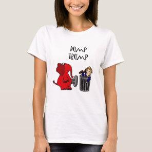 Funny Dump Trump Political Cartoon Art T-Shirt