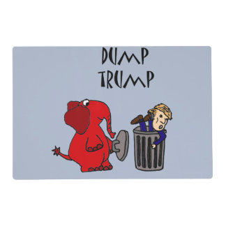 Funny Dump Trump Political Cartoon Placemat