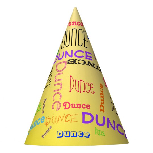 Funny Dunce Cap Word Cloud Collage | Zazzle.com