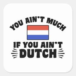 Funny Dutch Square Sticker