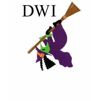 Funny DWI Witch T-shirt shirt