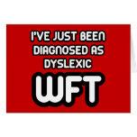 Funny dyslexic greeting card
