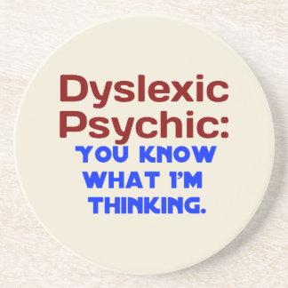 Funny Dyslexic Psychic Coaster