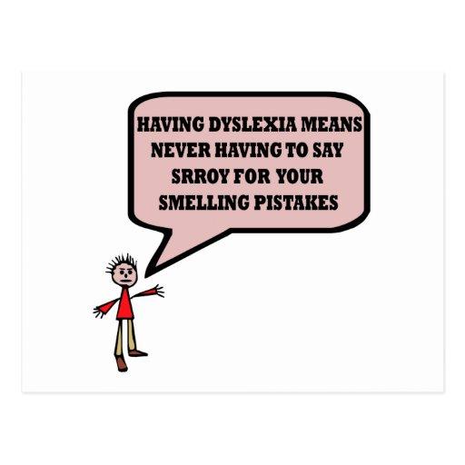 Funny dyslexic slogan postcard