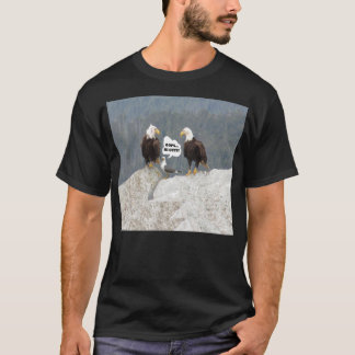 Funny Eagles and Seagull Men's Basic Dark T-Shirt