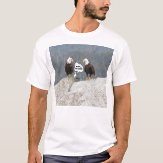 Funny Eagles and Seagull Men's Basic T-Shirt