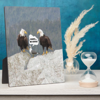 Funny Eagles and Seagull Plaque
