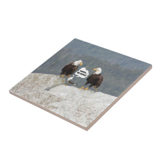 Funny Eagles and Seagull Tile