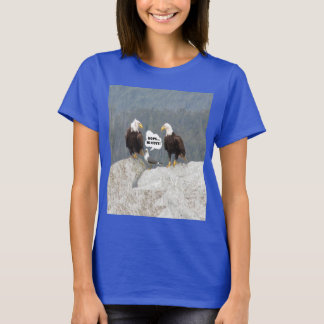 Funny Eagles and Seagull Women's Basic T-Shirt