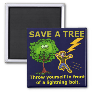 Funny Earth Day Tree Magnet