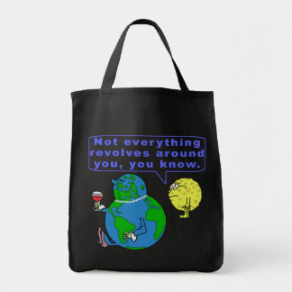 Funny Earth Snob Grocery Tote Bag
