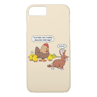 Funny Easter Bunny Chocolate Eggs iPhone 8/7 Case