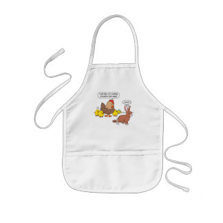 Funny Easter Bunny Chocolate Eggs Kids' Apron