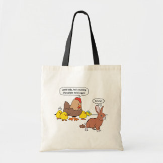 Funny Easter Bunny Chocolate Eggs Tote Bag