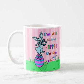 Funny Easter Bunny Cracked Egg Humor Coffee Mug