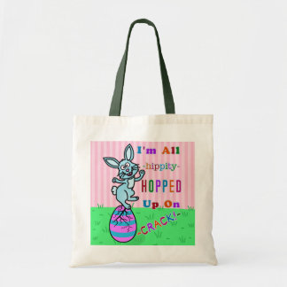 Funny Easter Bunny Cracked Egg Humor Tote Bag