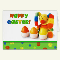 Funny Easter Bunny Custom Easter Greeting Cards