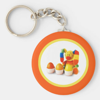 Funny Easter Bunny. Easter Gift Keychains