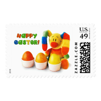 Funny Easter Bunny Easter Postage Stamp