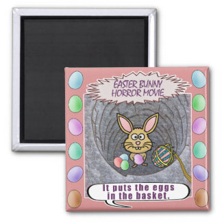 Funny Easter Bunny Horror Movie Magnet