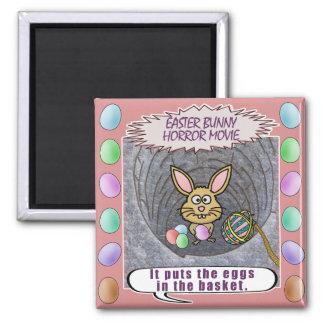 Funny Easter Bunny Horror Movie Fridge Magnets