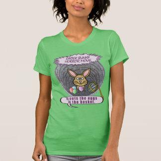 Funny Easter Bunny Horror Movie T Shirt