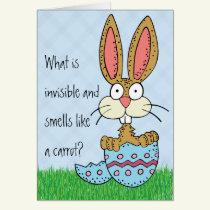 Funny Easter Bunny Joke Card