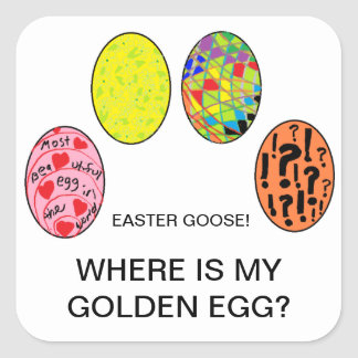 FUNNY EASTER BUNNY STICKERS