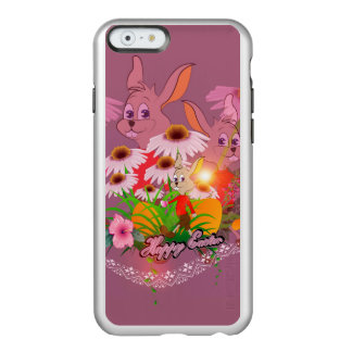 Funny easter bunny with easter eggs incipio feather® shine iPhone 6 case