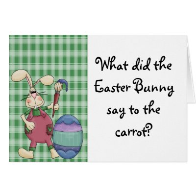 Funny easter bunny joke card zazzle negle Choice Image