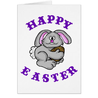 Funny Easter Card  Bunny With Anti-oxidant Egg