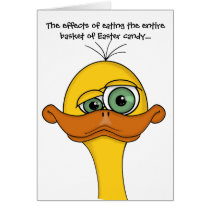 Funny Easter Cartoon Duck Card