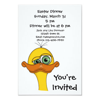 Funny Easter Cartoon Duck Card