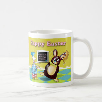 Funny Easter chef and Rabbit card Coffee Mug