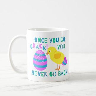 Funny Easter Chick Egg Crack Humor Cartoon Coffee Mug