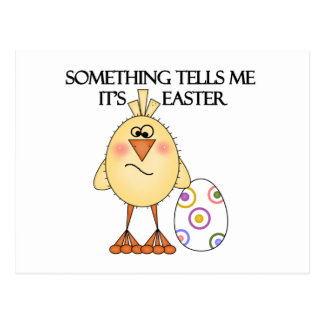 Funny Easter Chick Tshirts and Gifts Postcard