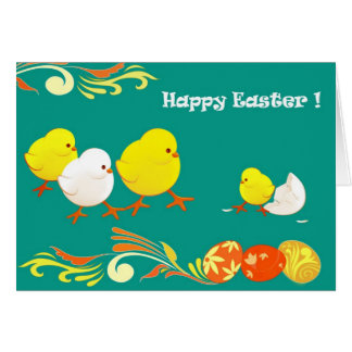 Funny Easter Chicks. Customizable Easter Cards