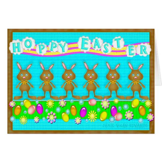 Funny Easter Chocolate Bunnies Greeting Card