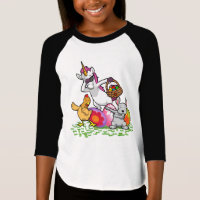 Funny Easter Dab Bunny Dabbing Unicorn Rabbit T-Shirt