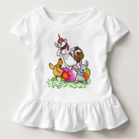 Funny Easter Dab Bunny Dabbing Unicorn Rabbit Toddler T-shirt