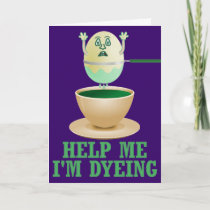 Funny Easter Egg Dyeing Holiday Card