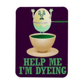 Funny Easter Egg Dyeing Vinyl Magnets