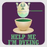 Funny Easter Egg Dyeing Square Stickers