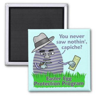 Funny Easter Egg Protection Program Magnet