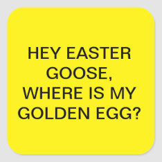 Funny Easter Egg Stickers at Zazzle