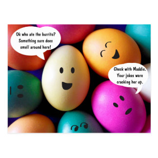 Funny Easter Eggs Post Card