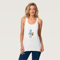 Funny Easter Robot Easter Bunny for Boys Girls Tank Top