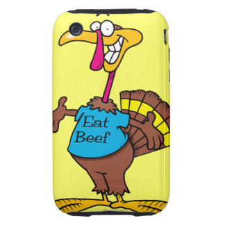 funny eat beef turkey cartoon iPhone 3 tough covers