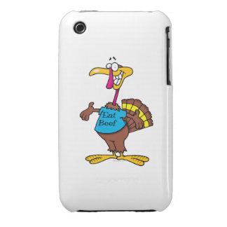 funny eat beef turkey cartoon iPhone 3 case
