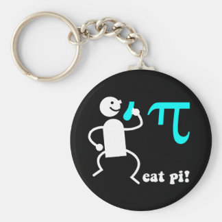 Funny eat pi basic round button keychain